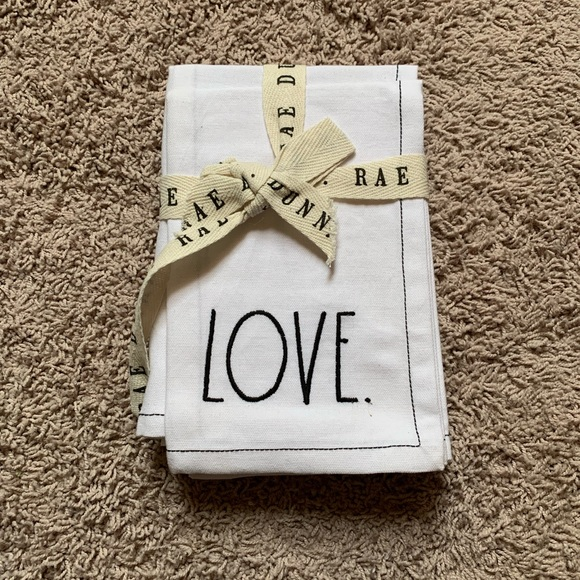Rae Dunn embroidered napkins